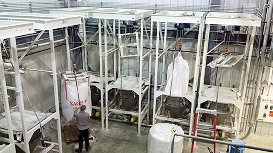 PNEUMATIC CONVEYING SYSTEM UNLOAD OPTIONS FOR BULK BAGS