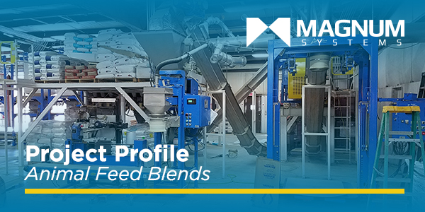 BAG UNLOADING AND FILLING SYSTEMS FOR ANIMAL FEED BLENDS